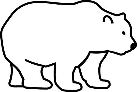 bear silhouette: Comic Bear Silhouette Illustration