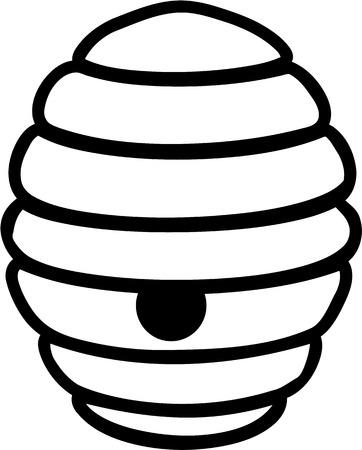 beehive: Beehive Cartoon Illustration