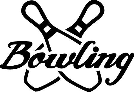 bolos: Bowling Set Botones Vectores