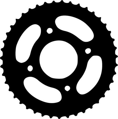 silueta ciclista: Bike Gear bicicletas