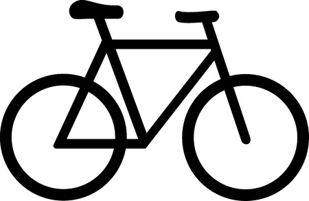 bicicleta: Bike Símbolo de bicicletas Vectores