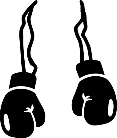 sports glove: Boxing Gloves Illustration