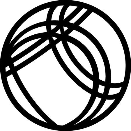 Jeu de boules Ball Icoon Stock Illustratie