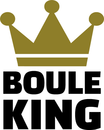 bocce ball: Boule King Illustration