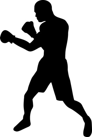 boxeadora: Silueta del boxeador