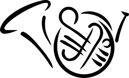 bocinas: Cuerno franc�s dibuja