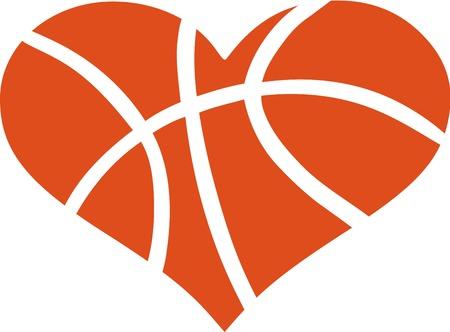 Hart met Patroon van het basketbal
