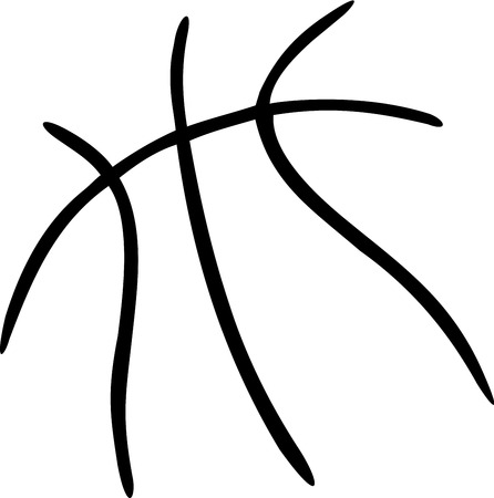 Líneas de baloncesto de la bola