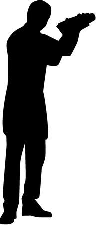 tripple: Bartender Barman Silhouette