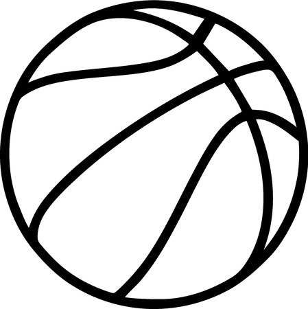 Basketball Outline on white Background 일러스트