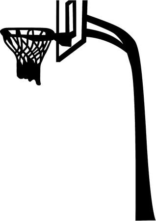 basketball net: Red del baloncesto con tablero trasero