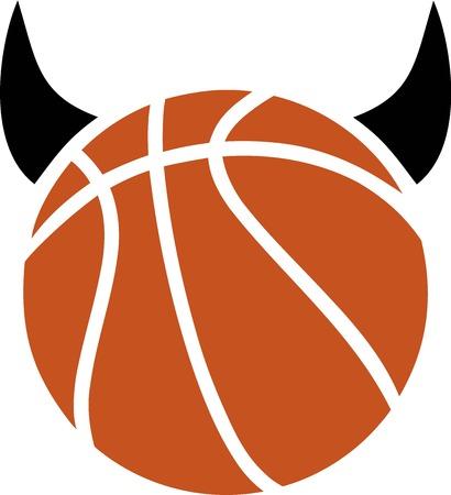 devil horns: Basketball Ball with Devil Horns