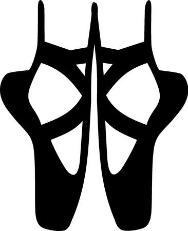 Zapatos de la bailarina de ballet Vectores