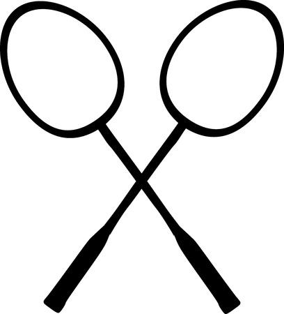 Badminton Rackets 向量圖像