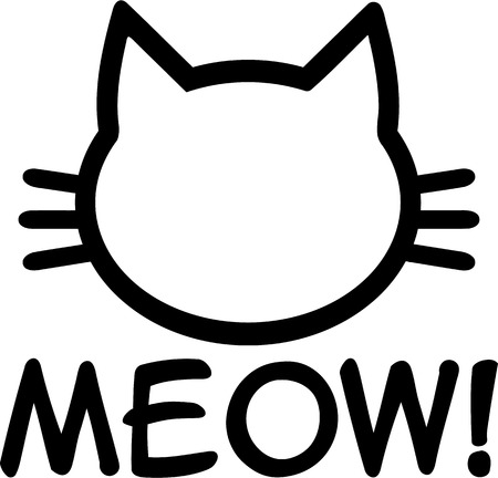 meow: Cat Meow illustration