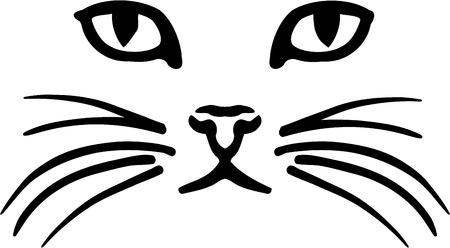 visage: Visage de chat Illustration