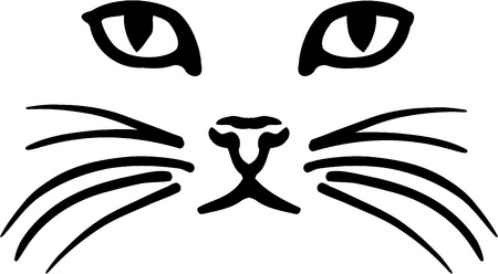 Visage de chat Illustration
