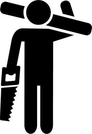 carpintero: Carpintero Icono Vectores