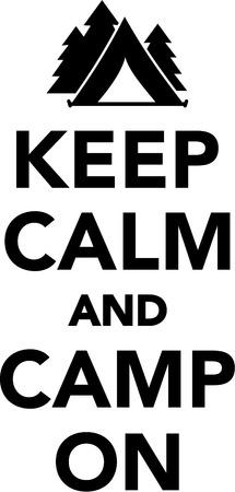 calm: Keep calm and camp on Illustration