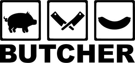 Butcher illustration Stock Vector - 40805856