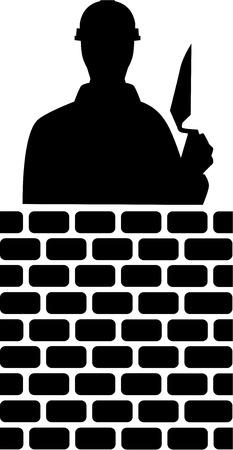 layer: Brick Layer Silhouette Illustration