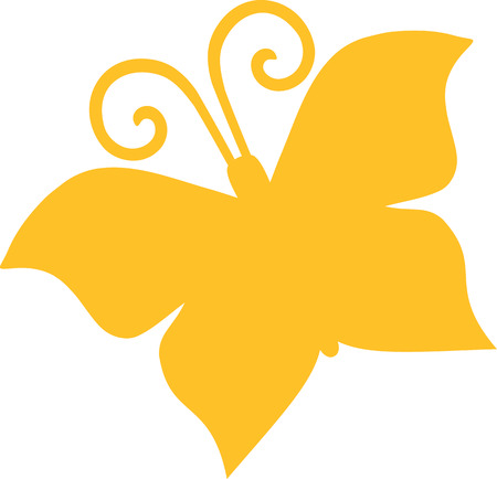 nature silhouette: Abstract Butterfly Illustration