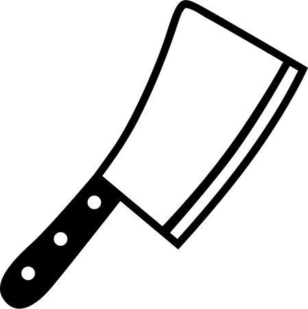Butcher Knife Cleaver Reklamní fotografie - 40806498