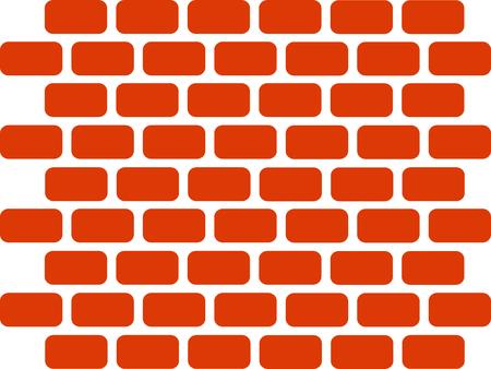 bakstenen muur: Brick Wall Stock Illustratie