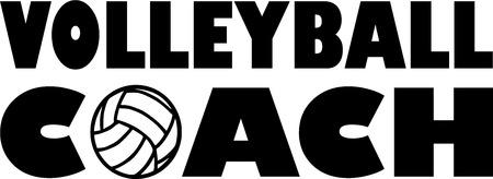 Volleyball Coach Illustration