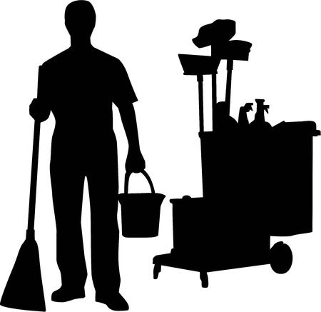 cleaning equipment: Cleaning Man Worker