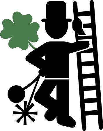 spazzatrice: Chimney Sweeper fortunato Vettoriali