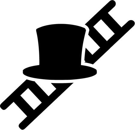 Chimney Sweeper Hat Ladder  イラスト・ベクター素材