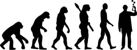 Química Laboratorio de Evolución Ilustración de vector