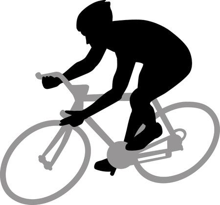 Ciclismo Silhouette Archivio Fotografico - 40822951