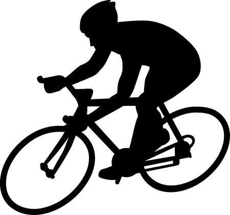 mountain bicycling: Cycle Racing Silhouette