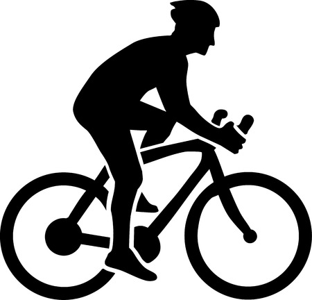 mountain bicycling: Cycling Silhouette