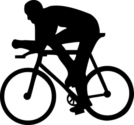 cycling mountain: Cycling Silhouette