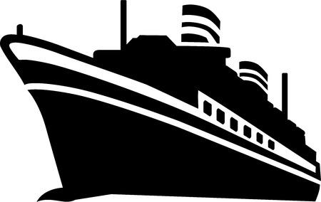 クルーズ船  イラスト・ベクター素材