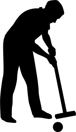 Croquet Player Silhouette
