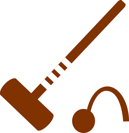 mallet: Croquet Mallet and Wicket