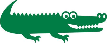 cocodrilo: Icono del cocodrilo Vectores