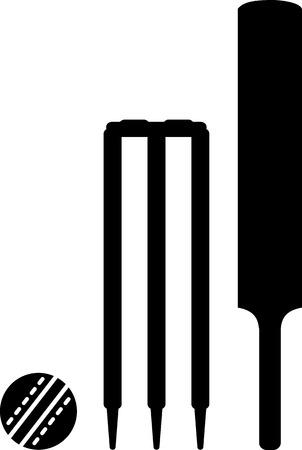 bate: Cricekt Bat bola Wicket Vectores