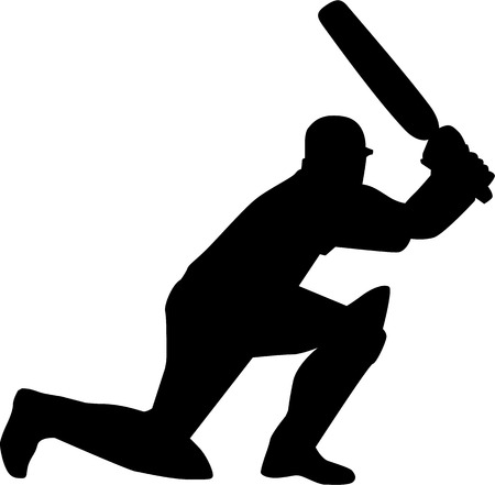 innings: Cricketer Silhouette