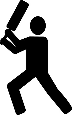 batsman: Cricket Batsman pictogram Illustration