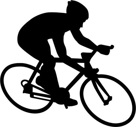Bici de la bicicleta del ciclista Ilustración de vector
