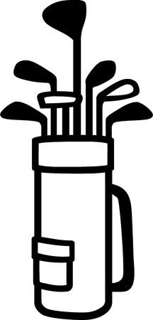 golf bag: Golf Bag with Clubs