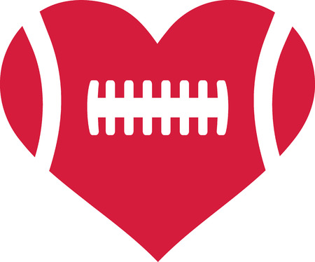 football play: American football heart