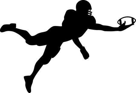 アメリカン ・ フットボール クォーター バック ジャンプ  イラスト・ベクター素材