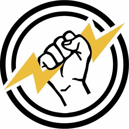 ingenieria elÉctrica: Electricista Mano Eléctrico Vectores