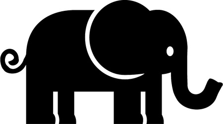 Elephant Icoon Stock Illustratie
